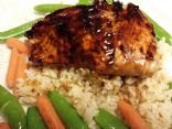 Glazed Salmon and Rice
