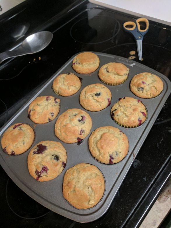 Gluten Free Blueberry Banana Bread Muffins