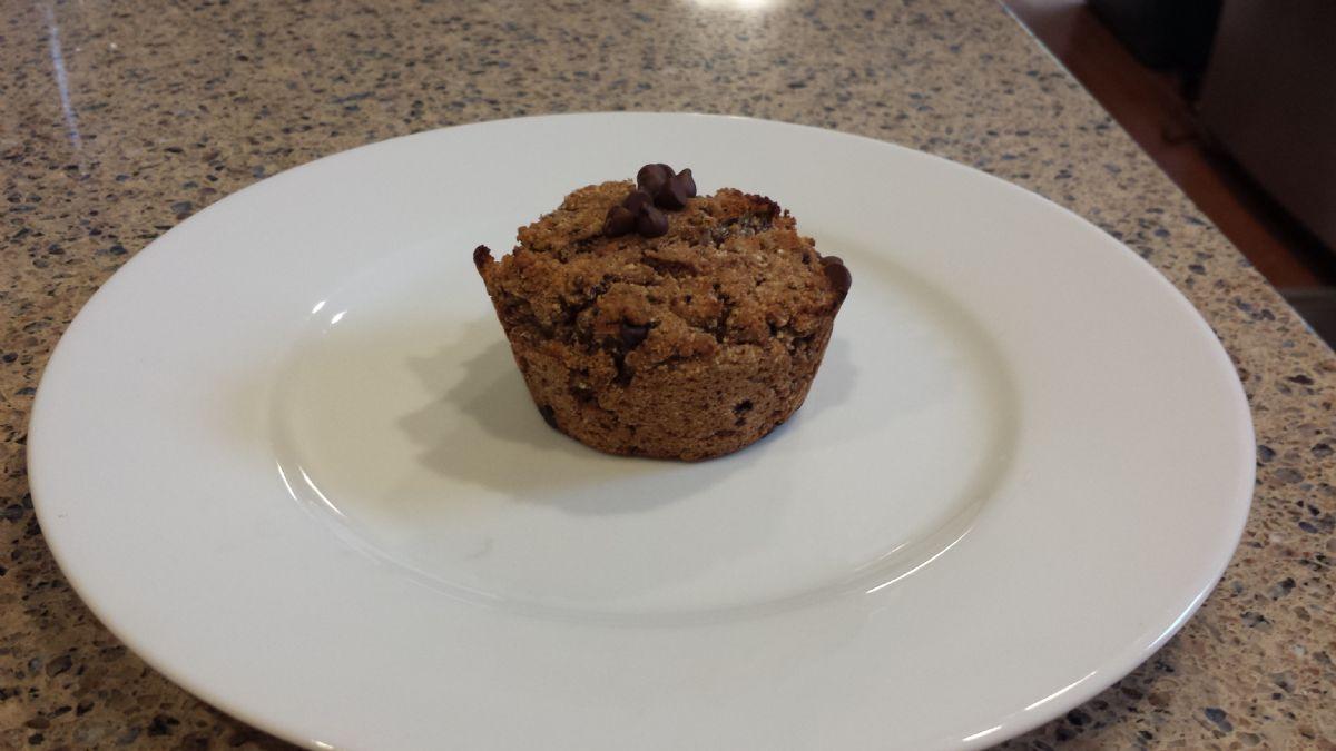 Gluten free Dairy free Soy free Chocolate chocolate chip Zucchini Banana Chia muffins