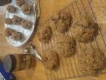 Gluten free Almost Vegan Power Cookies (Oatmeal Dark Chocolate Peanut butter Scotchies)