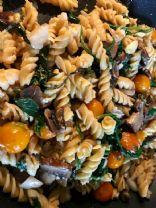 Gluten free pasta with veggies