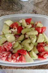Greek Style Cucumber Tomato Onion Salad