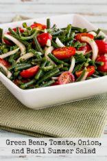 Green Bean Tomato Onion & Basil Summer Salad