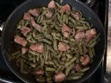 Green Beans with Pickle Pork