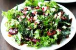 Greens, Kale and Pickled Beet Feta Salad with maple nuts