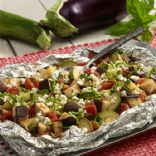 Grilled Italian Eggplant and Zucchini Foil Packet