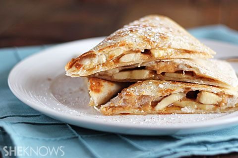 Grilled Peanut Butter and Banana Quesadilla