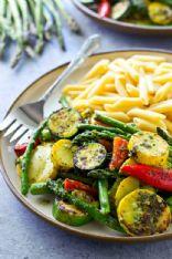 Grilled Veggie Pesto Penne