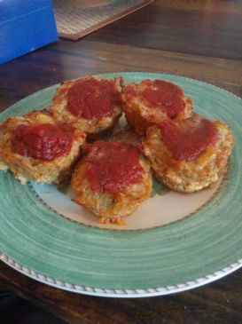 Ground Chicken Mini- Pizza burgers