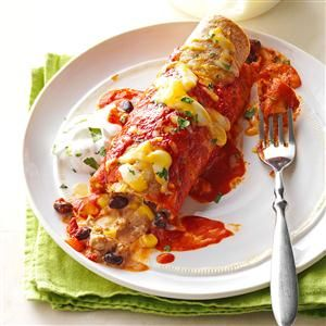 Ground Turkey & Black Bean Enchiladas