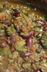 Ground Venison Zucchini Bean Chilli