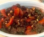 Ground beef veggie scramble -gluten free