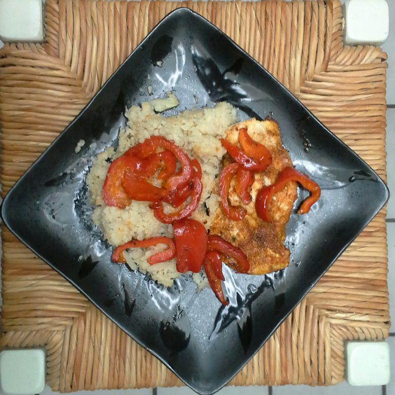 HCG BBQ Chicken with Cauliflower Mash