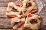 Halloween Mummy Bread (Pizza Toast)