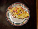 Ham, Egg, and Cheese Omelette with green peppers and onions (low cholesterol)