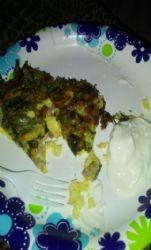 Ham, cheese, spinach Frittata