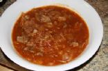 Hamburger Cabbage Soup - DELICIOUS! :)