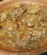 Hamburger Steak with Onion Mushroom Gravy