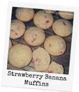 Healthier Strawberry Banana Muffins