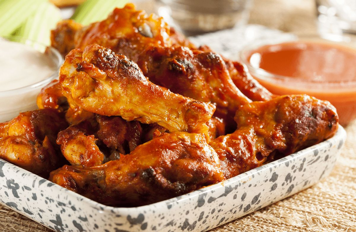 Healthy Baked Hot Wings