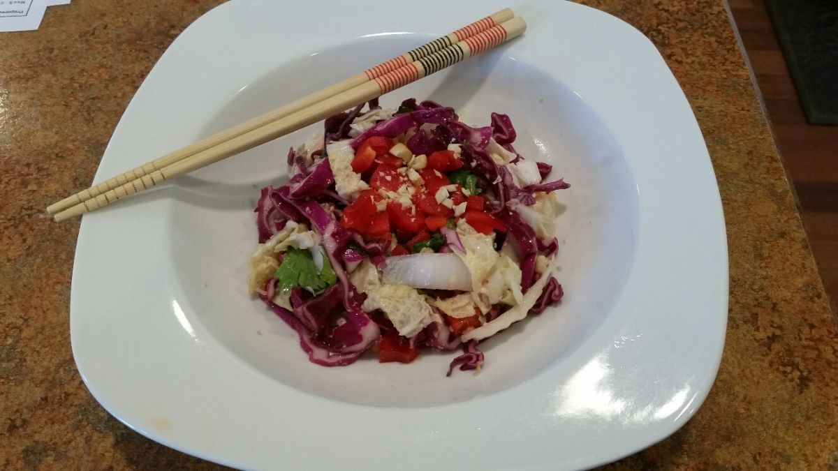 HealthyLady's Tangy Asian Cabbage Salad