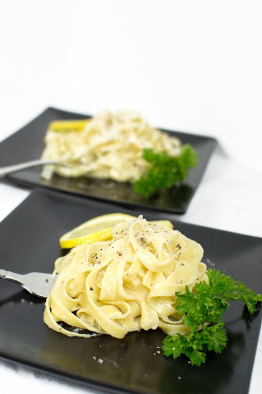 Herb Fettuccine With A Lemon- Prosecco Sauce (by Whitney at thatsquareplate.com)