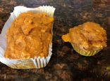 High fiber pumpkin and coconut muffins, no eggs,no dairy