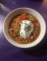 Organic low-fat Turkey Chili with beans