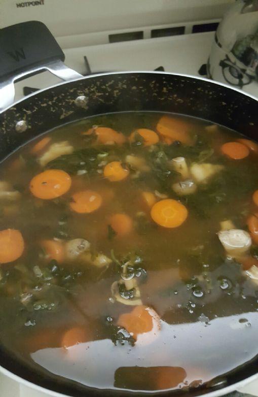 Homemade Vegan Friendly Dumpling Soup