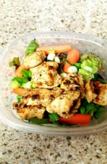 Homemade herb,garlic, and lemon chicken salad