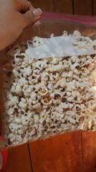 Homemade popcorn in oil w 5 T butter total