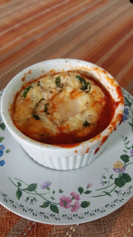 Low Carb Italian Baked Egg