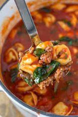 Italian Beef Tortellini Soup