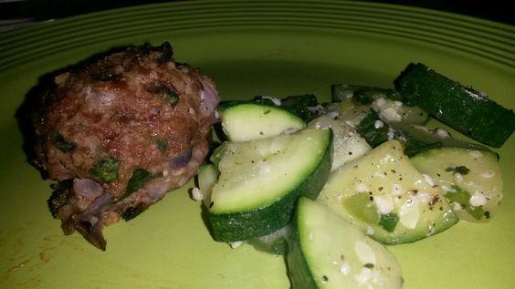 Italian Spinach & Turkey Meatballs