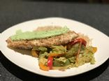 Jamaican Jerk Tilapia with Cilantro Lime Cream Sauce