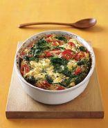 Jennifer's Spinach Goat Cheese Tomato Frittata