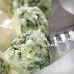 Atkins Kale Ricotta Dumplings with Sage Brown Butter