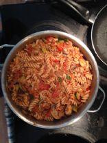 Spelt Rotini w/Tomato Meat Sauce