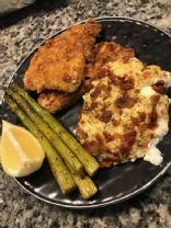 Keto Wiener Schnitzel in the Air Fryer