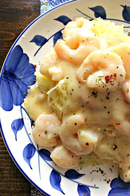 KetoPaleo Shrimp in Garlic Cream Sauce