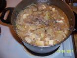 Korean Radish & Tofu Pork Soup 1.5 c= 1 serving