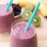 LOW Fat Kiwi Banana Blueberry Smoothie