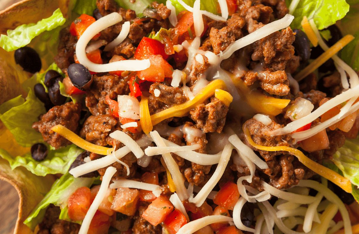 Lean and Beefy Taco Salad