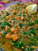 Lentil, Kale, sweet potato soup