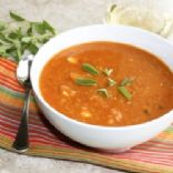 Lentil soup with carrots and tomato