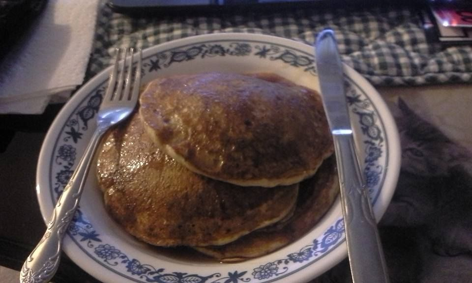 Linda's Healthy Sourdough Rye Pumpkin Pancakes