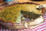 Low Carb Chicken Spinach Mushroom Quiche