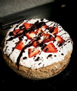 Low Carb Chocolate Cheesecake ( Strawberry Topping Optional)