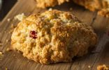 Low-Fat, Whole-Wheat, Fresh Strawberry and Dark Chocolate Scones