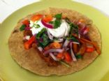 Low Fat & Protein Rich Chicken Fajita With Homemade Pico de Gallo